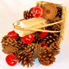 SCENTED FIREPLACE STARTER GIFT BASKET - RED